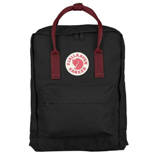 Fjallraven Kanken Backpack Black Ox Red