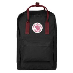 Fjallraven Kanken Laptop Backpack 15inch Black Ox Red